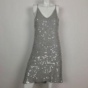 Club Monaco Dress Sequin Gray Formal Size 6